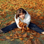 Autumn woman — Stock Photo #9557891