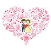 Invito a nozze di bella — Vettoriale Stock