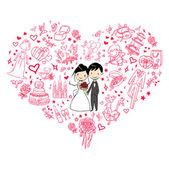 Invitación de boda preciosa — Vector de stock