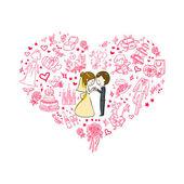 Hochzeitseinladung. — Stockvektor