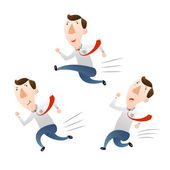 Man with run and jump — Stock Vector