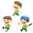 Cute boy sport - Stock Vector