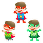Cute super hero boy — Stock Vector