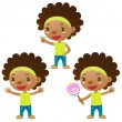 Stock Vector: Cute black girl