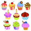 Colorful delicious cakes - Stock Vector