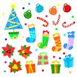 Vector xmas icons - Stock Vector