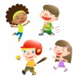 Cute kids playing — Stock Vector #14068380