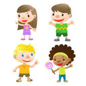 Cute kids — Stock Vector