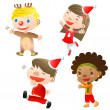 Stock Vector: Christmas children