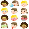 Children of various facial expressions — Stock Vector #16280663