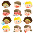Children of various facial expressions — Stock Vector #16280673