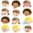 Royalty-Free Stock Vector Image: Children of various facial expressions