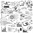 Royalty-Free Stock Vector Image: Hand doodle charts