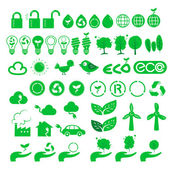 Icons of green — Stock Vector