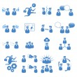 Office icons set - Stock vektor