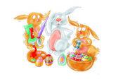 Humorous cartoon animals, dragons, dinosaurs,top — Stock Photo