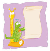 Humorous cartoon animals, dragons, dinosaurs — Stock Photo