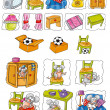 Постер, плакат: Children and pets drawings children illustrations publishing books fairy tales