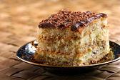 Cake with chocolate — Stock Photo