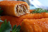 Croquettes close up — Stock Photo