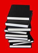 Libros sobre rojo — Foto de Stock