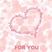 Karta z serca — Zdjęcie stockowe