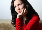 Thoughtful young woman — Stock Photo