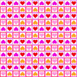 Seamless wallpaper with hearts — Foto Stock