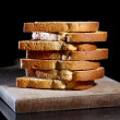 Stack of toasts — Stock Photo