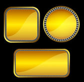 Golden buttons with gems — Stock Photo
