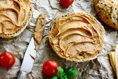 Healthy peanut butter sandwich — Stock Photo