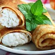 Crepes with cottage cheese — Stock Photo #49749263