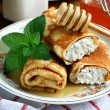 Cottage cheese crepes — Stock Photo #49881849