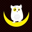 Vector de stock : Snowy owl