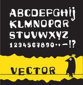 Alfabeto — Vettoriale Stock