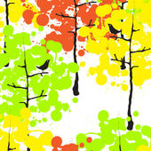Autumn forest — Stock Vector