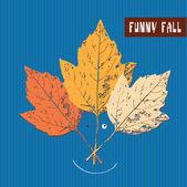 Funny fall — Stock Vector