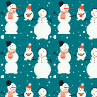 Royalty-Free Stock Vector Image: Family of snowmen