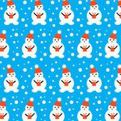 Muñecos de nieve — Vector de stock
