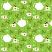 お茶の時間 — ストックベクタ