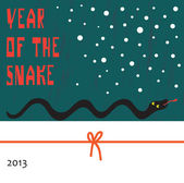 Chinese New Year 2013 Translation: Snake Year — Stock Vector