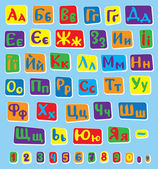 Ukrainian alphabet — Stock Vector
