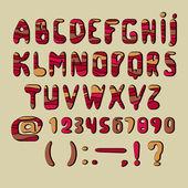 Alfabet Afrika — Stockvector