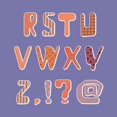 Tekstil alfabesi — Stok Vektör