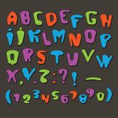 Joyful Cartoon font — Stock Vector