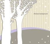 Silueta de los árboles — Vector de stock