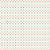 Polka dots patroon. — Stockvector