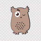 Winking owl — Stock Vector