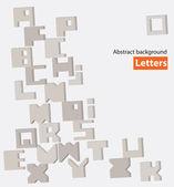 Tło listów — Wektor stockowy