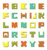 Kolorowy alfabet — Wektor stockowy